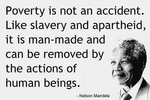 עוני הוא משהו שלא קורה, אלא נגרם